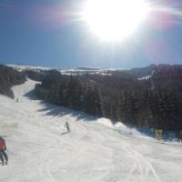 Herrlicher Skitag - hier der Schlußhang der Bärnbisspiste